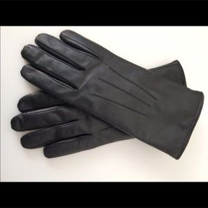 Accessories - WORN ONCE LEATHER WITH FAUX FUR LINING GLOVES